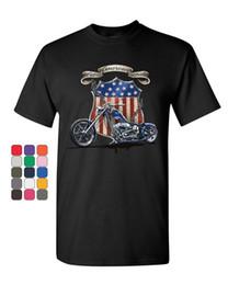 Американская атлетика онлайн-Все американская гордость Маршрут 66 футболка байкер измельчитель ездить или умереть мужская футболка