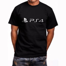 2019 sony t PS4 Sony Playstation 4 PS 4 Gamer Manches courtes Noir T-shirt Taille Homme S-5XL Drôle livraison gratuite Unisexe Casual Tshirt top promotion sony t