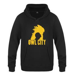 Совиный пуловер онлайн-Adam Young Owl City Rock Толстовки Мужчины 2019 Мужская с капюшоном руно пуловер толстовки