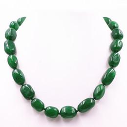 2020 collar de piedras semipreciosas verde Charms Collar de piedra natural para las mujeres Green Jades Beads Jaspers irregular semipreciosa gargantilla collar de clavícula 17 pulgadas A498 collar de piedras semipreciosas verde baratos