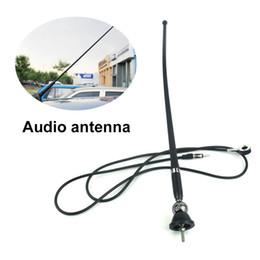 NERO Auto antenna lunga frusta stile RADIO AM//FM Antenna tetto ingrasso 16 inch