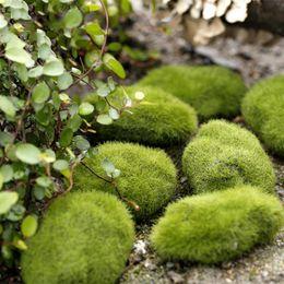1 Bolsa Artificial Verde Musgo Bola de Piedra Falsa Simulación de la Planta Decoración de DIY para la Ventana de Tienda Hotel Casa Oficina de la Planta Decoración de Pared desde fabricantes