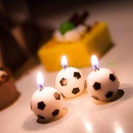 Decorazioni candela chiara di tè online-Più nuovo insieme Soccer Ball Calcio festa di compleanno 6Pcs / torta Candele Tatuaggi Forniture strumento generale a lume di candela del tè