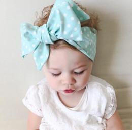 accessori dei capelli all'ingrosso giapponese Sconti Trova_To New Bambini Dot Print Copricapo FAI DA TE Fascia per capelli Baby Headwear Bow Accessori per capelli Baby FPH0027