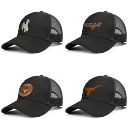Chapéus de vaqueiro alaranjados on-line-Logotipo do futebol dos Texas Longhorns dos homens Laranja Boné de malha Mulheres Ventilação ao ar livre Chapéu de golfe Wyoming Cowboys texas longhorns Logotipo da árvore de coco