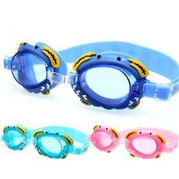 Occhiali antifog online-Occhialini da nuoto per bambini Carino HD impermeabile Occhiali rosa Bambini Antifog Protezione UV Antivirale Occhiali da vista M20