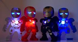 jogador mp3 oppo Desconto Presente legal para crianças Homem de Ferro Mini alto-falante portátil com luz LED Robô C89 Alto-falantes sem fio Bluetooth Caixa de som estéreo de alta fidelidade TF USB MP3 Player