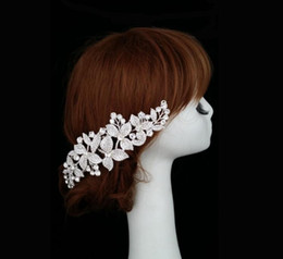 cabelo da estação da flor Desconto New Luxury Real Princesa Barroco Rhinestone pin Nupcial Do Casamento Do Véu Cocar Headband Prata # 18
