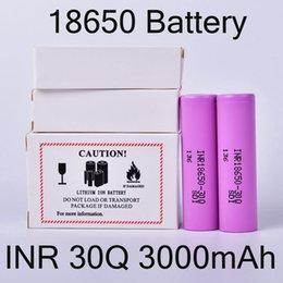 2019 cellules 3.6v INR 30Q 18650 Batterie 3000mAh 3.6V 35A pour Samsung batteries rechargeables au lithium pour portable Torch Box Emballage DHL Headlamp gratuit FJ752 cellules 3.6v pas cher