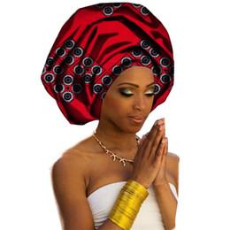 2019 headpiece de noiva vermelho preto Mulheres headwear impressão tecido headwrap envoltório da cabeça africano lenço torção faixa de cabelo turbante bandana bandage hijab chapéus c19042001