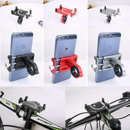 mobile phone motorcycle stand holder Promo Codes - Motorcycle Bicycle Scooter Mobile Phone GPS Handlebar Clip Bracket Stand Holder