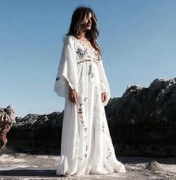 7ad2a06fbd5e Summer Women Oversized Ethnic Floral Embroidery Hippie Boho People Cloak sleeves  Maxi Robe Long dress Vestido Feminine oversized maxi dress on sale