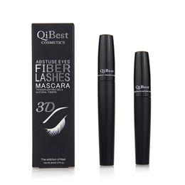 Seda impermeable online-Mascara de fibra 3D Mascara larga y negra de pestañas Lash Extensión de maquillaje de ojos a prueba de pestañas Extensión de pestañas de fibra de seda 3D Mascara Rim998