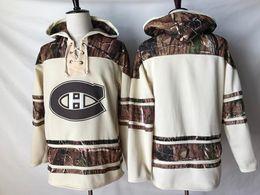 2019 camisetas de hockey nhl montreal canadiens Calidad superior! 2019 NHL Montreal Canadiens Old Time Hockey Jerseys Camo Custom Hoodie Pullover Sudaderas Sport Chaqueta de invierno camisetas de hockey nhl montreal canadiens baratos