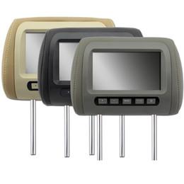 televisores do painel do carro Desconto Jogador da cabeceira do carro de LOONFUNG LF138 tela do diodo emissor de luz de 7 polegadas TFT com controlo a distância