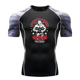 Muskelhemdentwurf online-2019 Sommer Neueste Mode Gym T-Shirt Männer Cooles Design Hohe Qualität Tops Benutzerdefinierte Sport T-Shirt Muscle Männer Fitness Tops