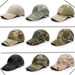 2019 autocollants militaires Chapeau de camouflage tactique chapeau masculin autocollant magique casquette de baseball fans militaires en plein air noir personnalité chapeau de pêche autocollants militaires pas cher
