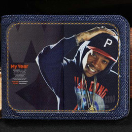 2019 rapper fälle Wiz Khalifa Portemonnaie Little Queer Rapper kurze Bargeld-Note Rap-Stern-Etui Geld-Notizbuch Leder-Jean-Burse-Tasche Kartenhalter günstig rapper fälle