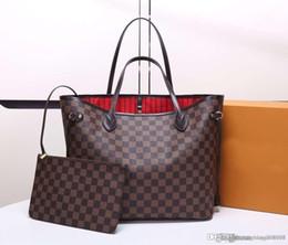 2019 фарфор и Оптовая Высококачественные женские дизайнерские сумки Neverfuull Композитная сумка Сумки из плотной ткани Женская сумка в клеточку Сумки N41358 м
