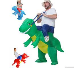 2019 dinossauro de decoração New Design Festa Decoração Iinflatable Dinosaur Cosplay Fan Operado Festa Halloween Costume Party animal Dino Riderst Rex dinossauro de decoração barato