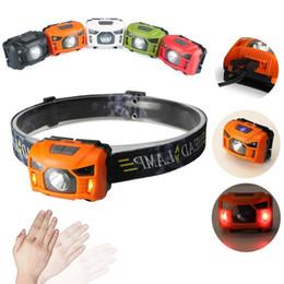 Mini sensor de luz online-4000Lm led faro mini recargable led faro cuerpo movimiento sensor faro camping linterna cabeza luz antorcha con USB