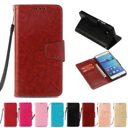 Caja del teléfono g9 online-Caso de la carpeta de la PU retro para Huawei P9 lite G9 Lite cubierta de tirón del caso para Huawei G9 Lite Kickstand cajas del teléfono con bolsillo