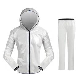 Dividir mochilas esportivas on-line-Unisex Super Light com capuz Dividir Esporte roupa impermeável Raincoat equitação da bicicleta Ciclismo Chuva Suit Jerseys Drop Shipping