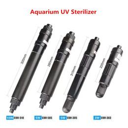 aquarium externe Promotion SUNSUN Aquarium UV Lampe Stérilisateur Haute Capacité De Stérilisation Supprimer Algues Réservoir De Poissons UV Clarificateur Ultraviolet Lumière Germicide