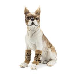 2019 fantasias para cães Nova Pet Kneecap Meia Capa Proteger Knuckle Dog Joelho Suprimentos Pet Meias Pernas Leopardo Grãos de Tricô Algodão Gato E Cão Pulseiras