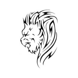decalques de vinil leão Desconto Leão Cabeça Carro Etiqueta Vinil Embalagem Acessórios Produto Decal Decoração Animal Padrão Corpo