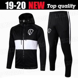 Herren fußball kleidung online-Corinthians Club New Herrenmode Designer-Jacke Fußball Winter Sportswear für Männer Marke mit Kapuze Trainingsbekleidung Zipper Up Jacket Set