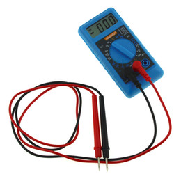 dc amperios metro Rebajas ANENG Mini multímetro digital con zumbador Protección contra sobrecarga Voltaje de bolsillo Amperios Ohmímetro CC AC LCD portátil