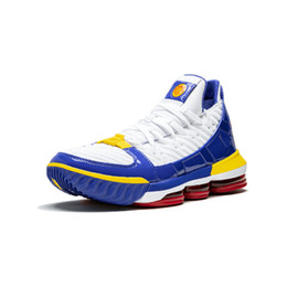 separation shoes 67817 10007 2019 New Lebron 16 SuperBron Black Glow in Dunkelblau LBJ 3 Throne Blau  Weiß Lila Graue James Sportschuhe Turnschuhe 7-12