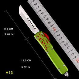 Deutschland Grüner und roter Griff Automatisches MICRO Messer UTX 85 Messer HALO V MT Automesser CNC Campingmesser Double Action Auto Tactical TECH MESSER Versorgung