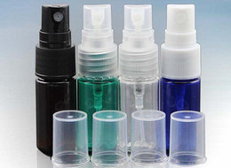 Pulverizador verde online-PET Pump Sprayer Bottle 10ml 15ml 20ml 30ml 50ml Lotion Cosmetic Sprayer Bottle claro, verde, azul, ámbar botella de spray líquido