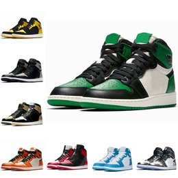 scarpe mid top kd Sconti Nike Air Jordan 1 OG Basketball Shoes Mens Chicago rosso 1S Sneakers off scarpe da donna firmate UNC Powder Blue white trainer Scarpe sportive Taglia 36-47.5