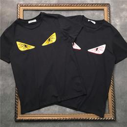 Polo de luxe en Ligne-Luxe T-shirt Hip Hop yeux Mode Hommes Impression Designer T-shirt à manches courtes de haute qualité Hommes Femmes T-shirt Polo Taille S-XXL