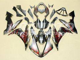 yamaha yzf custom Rebajas Calidad OEM Nuevos kits de carenado ABS completos aptos para YAMAHA YZF R1 04 05 06 YZF1000 2004 2005 2006 R1 Juego de carrocería Custom Red Flame