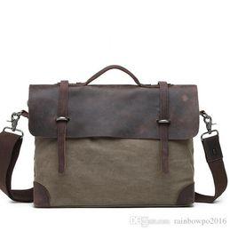 cerniera rilakkuma Sconti fabbrica di vendita borse di marca vintage in pelle stile mail-bag in pelle cravatta in tela da uomo borsa business vintage a spalla tela inclinata