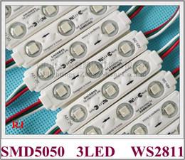 Deutschland WS 2811 Einspritzungs-LED-Modullicht für Zeichenbuchstabe-Schirme SMD 5050 RGB DC12V 3 led 0,72W WS2811 75mm * 15mm Versorgung