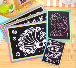 2019 kratzer kinder kinder Magic Color Scratch Kunstdruckpapier Malkarten Scraping Zeichnung Spielzeug für Kinder Kinder GYH GB594 rabatt kratzer kinder kinder