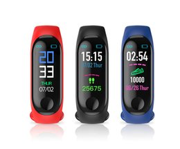 window m3 Promo Codes - M3 Fitness Bracelet IP67 waterproof Heart Rate Monitor Blood Pressure Smart band Watch PK Mi Band Wristbands Detachable pk fitbit xiaomi