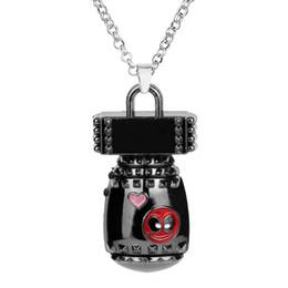 deadpool colares Desconto Deadpool 3d bonito mini bomba de metal das mulheres dos homens granadas forma cadeia de ligação liga chaveiro pingente chaveiro deadpool brinquedos para os fãs