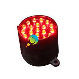 Traffic Light Dc12v Or Dc24v 100mm High Brightness Epistar Led Yellow Color Traffic Signal Light Replacement