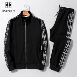 zip suits Promo Codes - Brand jacket Medusa luxury designer letter printing men's running clothes sportswear sports suit men's jacket casual sweatshirt.#171