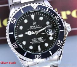 2019 алюминиевый 2001 известный топ люксовый бренд 40 мм часы Rolex мужские часы авто дата Master Стальной браслет золото мужчины часы 1#