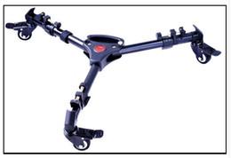 Soporte de cámara plegable online-Video universal plegable ruedas Heavy Duty deslizante trípode para la cámara Dolly Soporte Y