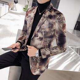 новые куртки мужские европейского стиля Скидка Британский Стиль Блейзер Мужской Моды Однобортный Свадьба Пиджак И Куртки Мужчины Новый Размер Европы Slim Fit For Men