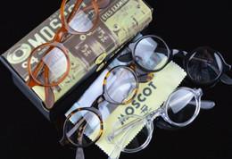Cornice 46 online-Di marca di modo 42 millimetri progettista 46 millimetri strutture degli occhiali Zolman Occhiali Telaio Johnny Depp uomini di alta qualità rotonda opzionale miopia 1915 con il caso