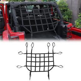 Rede de carga para tronco de carro on-line-Car Trunk Telhado bagagem transportadora de carga Basket Trail Net Para Wrangler JK 2007-2017 alta qualidade Auto Acessórios Exterior